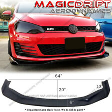 For 15-17 Volkswagen VW Golf GTI MK7 RB Style Front Bumper Lip Splitter Wings PU