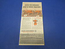 1958 Allis-Chalmers D-17 D-17 Tractor Print Ad in Color L003