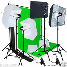 Linco Studio Lighting Light Video Photo Softbox Photography Kit Backdrop Muslins