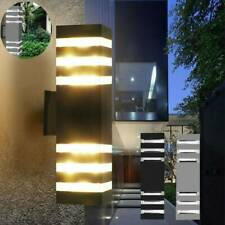 Modern Led Up Down Wall Light Sconce Dual Head Lamp Fixtures Outdoor Indoor Us