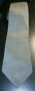 Asda George Black and Silver patterned tie