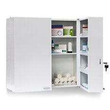 Relaxdays Armoire À pharmacie Acier XXL toilette Médicaments Salle de bain 2 P