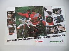 advertising Pubblicità 1984 MOTO CAGIVA 125 ELEFANT 2