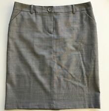 NWOT United Colors of Benetton Gray Wool Trouser Skirt SZ 8 US Career Pockets