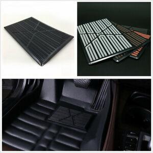 Black DIY High Quality PVC Car Floor Mat Carpet Cushion Antiskid Pad Universal