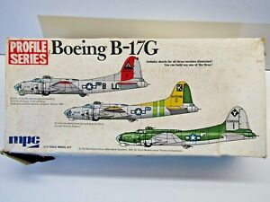 MPC Vintage 1:72 Scale U.S.A.F. Boeing B-17G Flying Fortress Model Kit # 2-2501