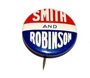 1928 ALFRED E. SMITH ROBINSON campaign pin pinback political button presidential