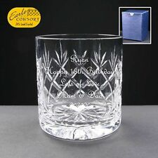 Personalised Whisky Cut Glass Birthday Gift 18th 21st 30th 40th 50th 60th 70th