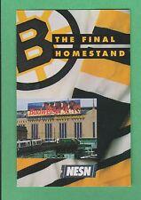 1994-95 NESN Boston Bruins Pocket Schedule-Last Year of Boston Garden