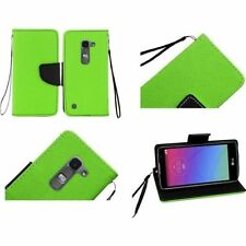 Custodie portafogli in pelle verde per cellulari e palmari