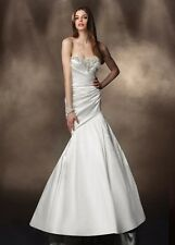 Impression Bridal Gown Satin Size 4 White Mermaid/Trumpet