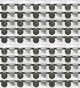 50 pcs 2025 Energizer Watch Batteries CR2025 CR 2025 3V Lithium Battery 0%HG