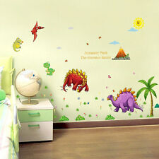 Dinosaur Family Wall Sticker Kids Bedroom Nursery Classroom Decorative Decal