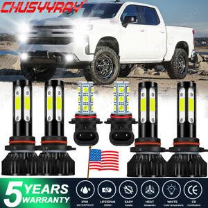 For GMC Sierra 1500-3500 2001- 2003 2004 2005 2006 LED Headlight Fog Light Bulbs