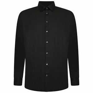 Mens French Connection King Size Plain Casual Shirts Collar Cotton Formal Shirt