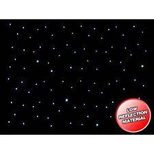 LEDJ 3 x 2m LED Starcloth System, Black Cloth, CW LED Disco DJ