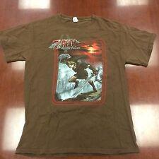 The Legend of Zelda Twilight Princess Game T Shirt Brown Medium