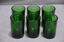 More details for 6x jagermeister liqueur embossed shot glasses green glass 2.5cl (to line) m20