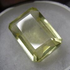BEAUTIFUL 35CT RECTANGLE  SHAPE  NATURAL LEMON TOPAZ GEM STONE FROM SRI LANKA