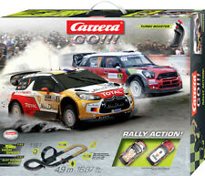 CARRERA GO!!! RALLY ACTION! - 2 VEICOLI INCLUSI - PISTA SLOT CAR 1:43