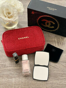 BNIB CHANEL 2020 Limited Edition Holiday Beauty Gift Set Good to Glow Red Pouch