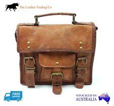 """11"""" Leather Satchel Bag - Goat Leather - iPad/Tablet Shoulder Bag"""