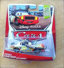 Disney PIXAR Cars DARRELL CARTRIP WITH HEADSET on 2013 WGP THEME diecast 14/17