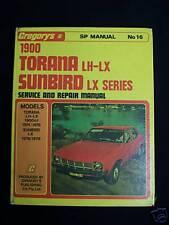 TORANA LH-LX & SUNBIRD LX-1900cc-1974-78- W/SHOP MANUAL