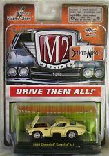 1966 Corvette 427 Yellow Detroit Muscle 1:64 Scale M2 Diecast - Hot Wheels