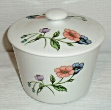 """House Of Prill Storage Jar Canister With Lid POPPY Vtg Retired Poppies 4.75"""""""