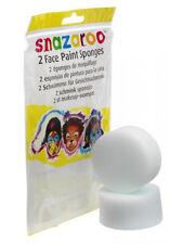 Snazaroo Face Paint High Density Sponges 2 Pack Fancy Dress Halloween Clown