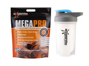 Megapro Whey Protein Powder WPC/WPI Chocolate Supreme 4kg & Free Shaker