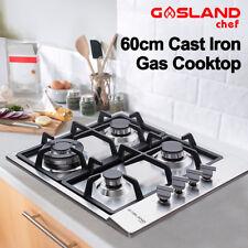 GASLAND chef Gas Cooktop 4 Burner Gas Hob Cast Iron Cook Top Trivets 60cm Stove