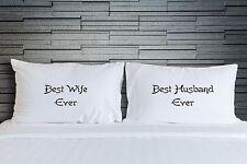 Couples Pillowcase Best Wife Best Husband Wedding Pillow Cover Bedding WSD844