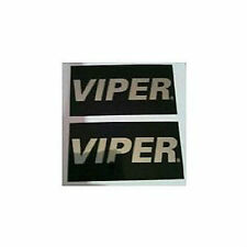 (2) Viper Warning Stickers Car Alarm Security System Decals