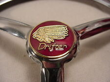 INDIAN DRIFTER   7 inch CHROMED METAL HEADLIGHT  COVER  SAYS DRIFTER