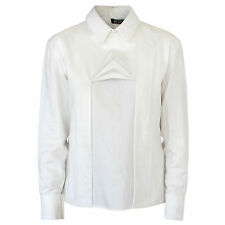 GEORGIA HARDINGE ivory white sculptural origami pleat button back shirt 10-UK/6
