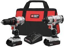 NEW PORTER CABLE PCCK604L2 20 VOLT CORDLESS IMPACT DRILL DRIVER KIT BAG 8218315