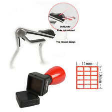 Alloy Guitar Capo With Picks Holder & Guitar Ukulele Chords Stamp Tab Red Ink