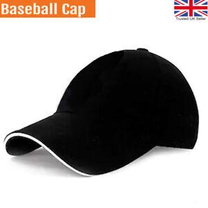 Baseball Caps hat Mens Women Black sports Cap Adjustable Summer Hats