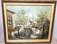 "Walter Blesh (German, 1939) Original Signed Oil Painting Canvas ""Street Scene"""