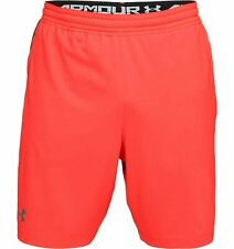 UNDER ARMOUR UA MK-1 Patterned Neon Coral/Graphite Shorts Men sz Large(34-36)NWT