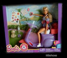 Barbie mit Scooter und Hündchen FNY34 Pink Passport NEU/OVP