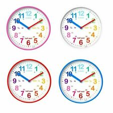 Acctim Wickford Kids 20cm Wall Clock Colourful Dial Learn To Tell The Time