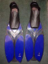 Kiefer Adults Swimming Long Training Fins Size 11-12 45-46 Blue / Black TAN2006