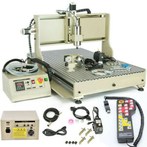 USB 4 Axis CNC 6090 Router Engraving Machine Wood Milling Machine+Controller