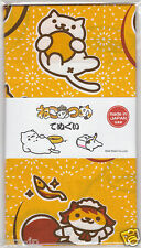 Neko Atsume Cat Tenugui Hand Towel Ver.2 (Yellow) JAPAN Hit-Point