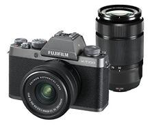 FUJIFILM mirrorless singlelens camera double zoom lens dark silver X-T100WZLK-DS