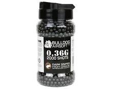 BULLDOG AIRSOFT 0.36G 2000 DARK SNIPER BLACK HIGH GRADE BB PELLETS BULLETS