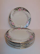 6 x China Side Tea Cake Plates Floral Design Lovely
